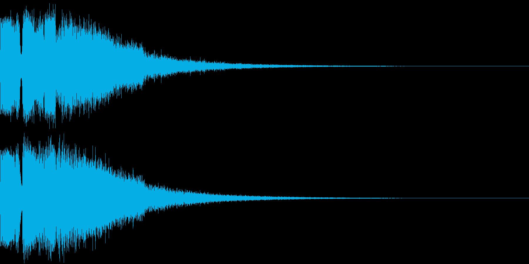 ピコピコ キューン ヒューン シューンAの再生済みの波形