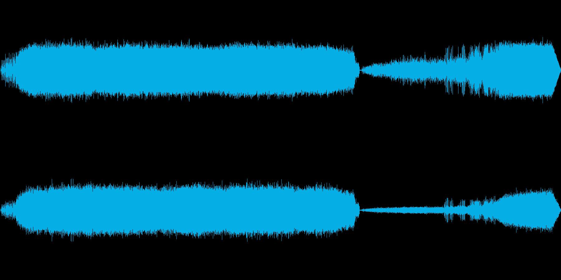 カエルの鳴き声-7の再生済みの波形