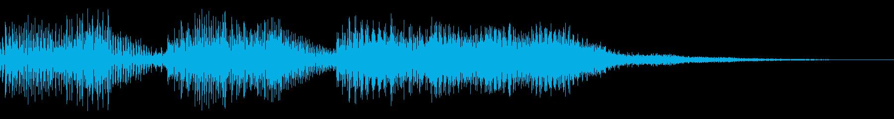 8bit ファミコン風 ゲームオーバーの再生済みの波形