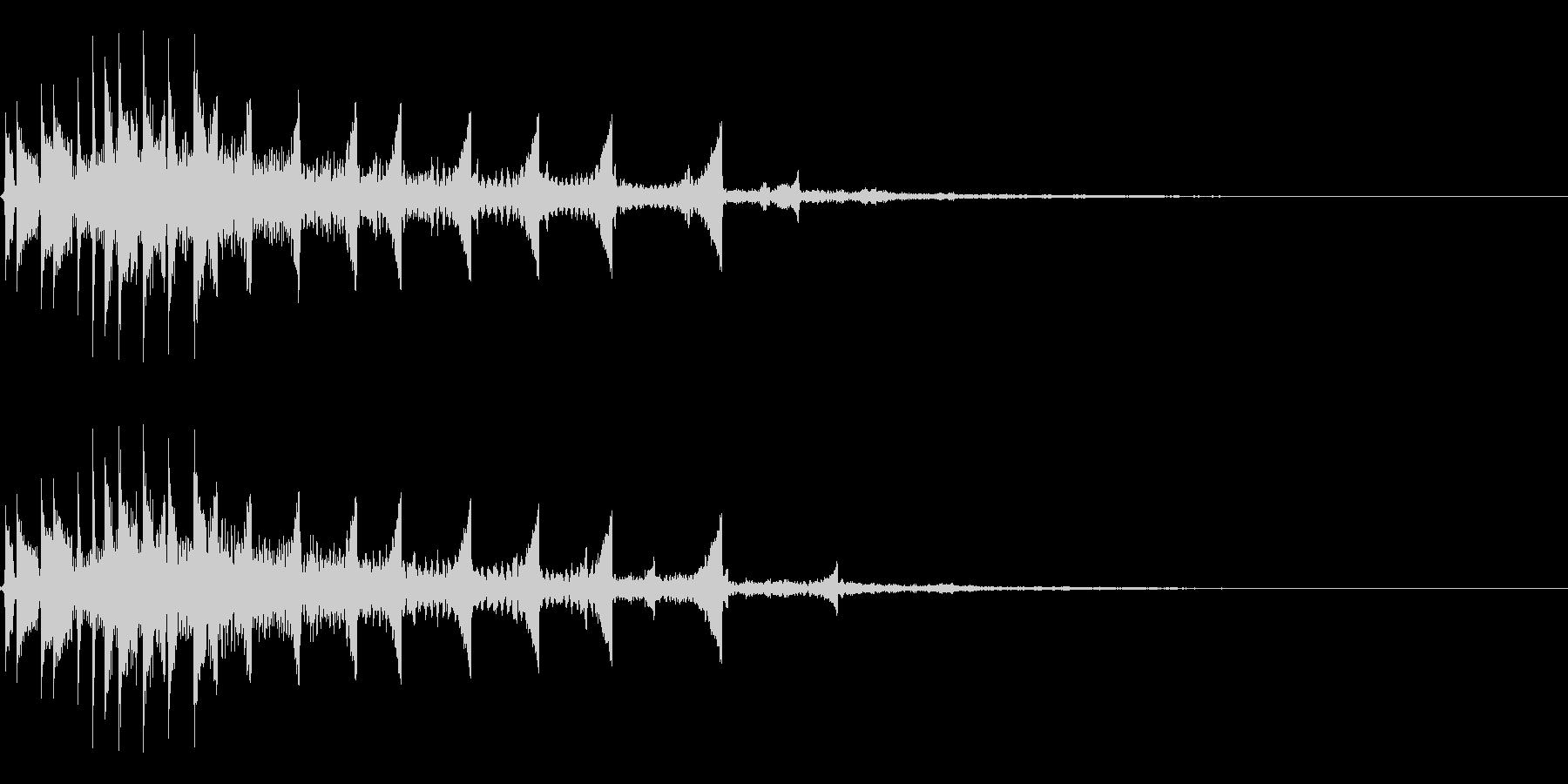 流れ星のようなキラキラ系SE-02の未再生の波形