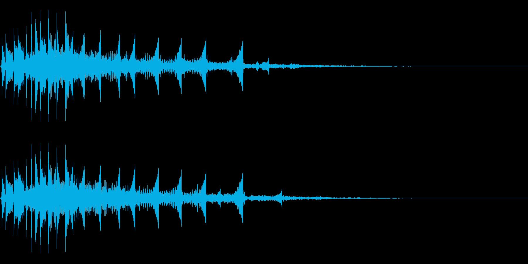 流れ星のようなキラキラ系SE-02の再生済みの波形