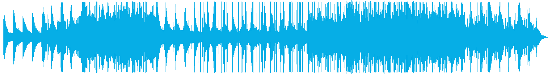 EDMで暖かい曲の再生済みの波形