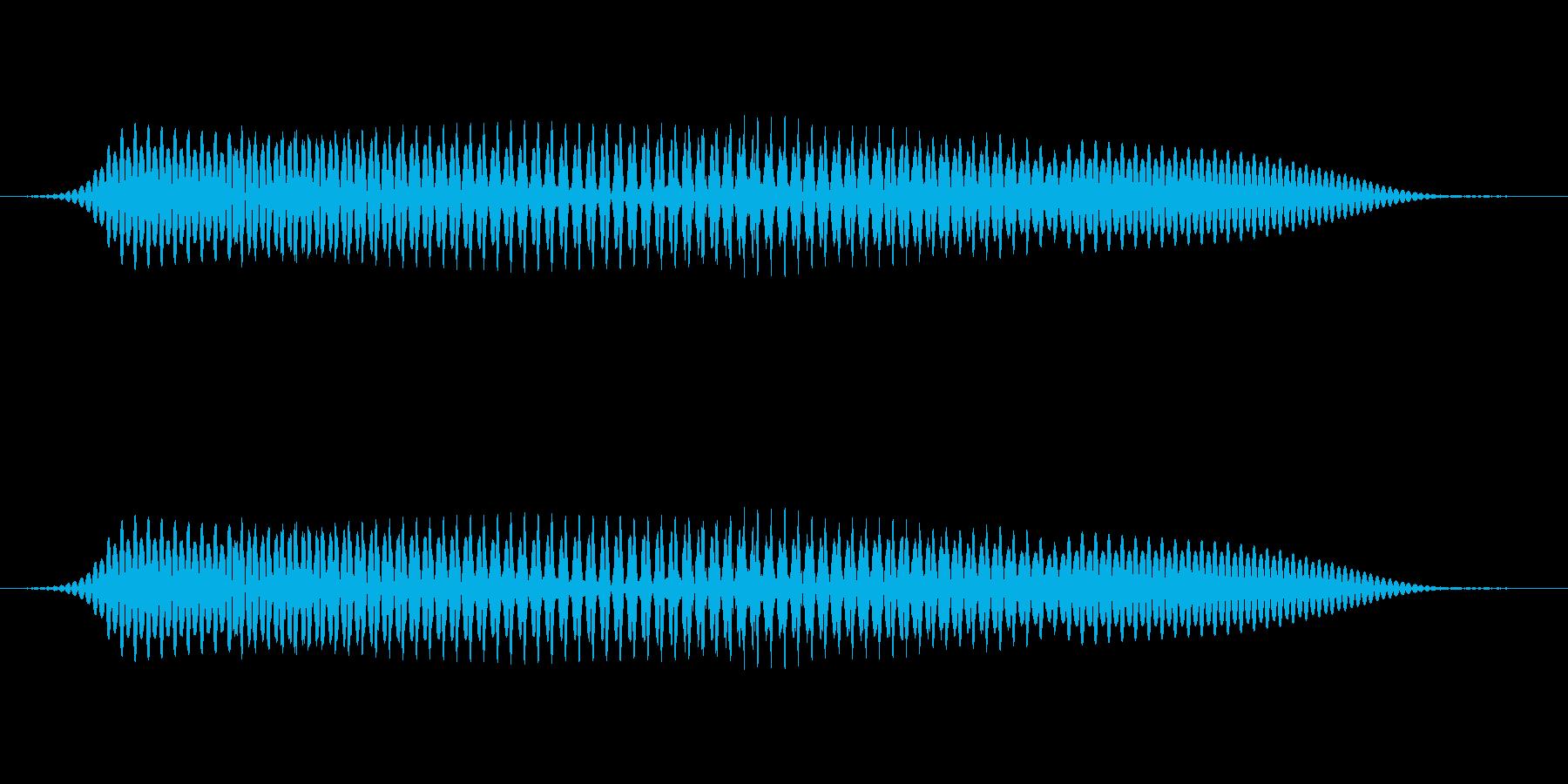 (女性)ドイツ語 数字9(九) ノインの再生済みの波形