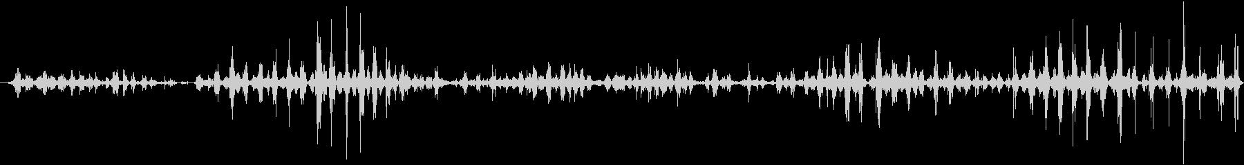 ASMR りんごをする音の未再生の波形