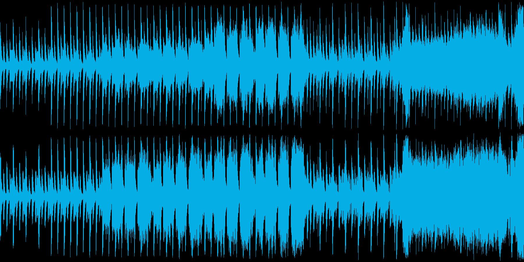 緊迫感を煽るホラー系BGMの再生済みの波形