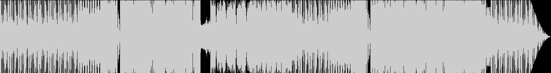 イケイケなカオス的展開のEDMの未再生の波形