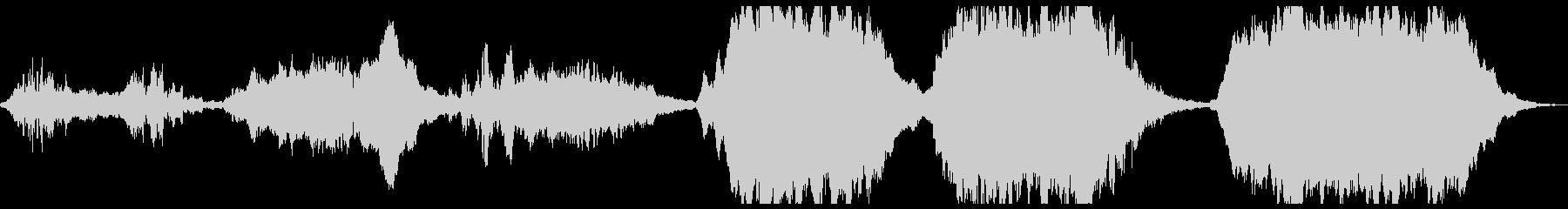 波のあるリズムのアンビエントの未再生の波形