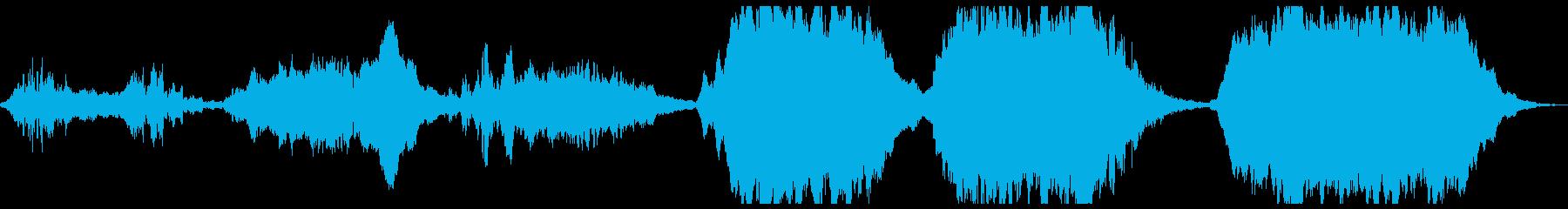 波のあるリズムのアンビエントの再生済みの波形