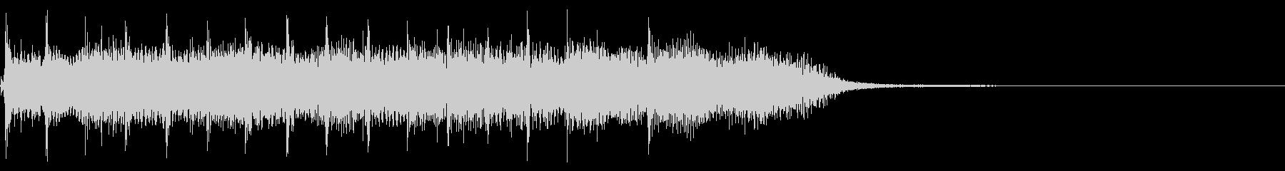インパクトあるロックなジングル27の未再生の波形