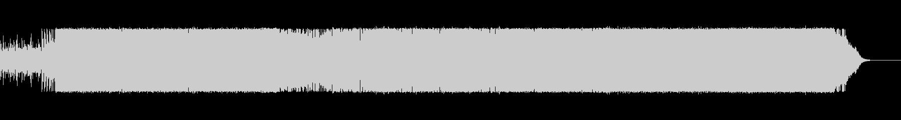 bpm121の重厚感のあるテクノの未再生の波形