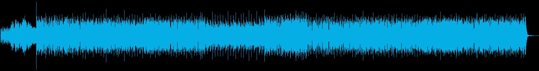 疾走感のあるインストハウスの再生済みの波形