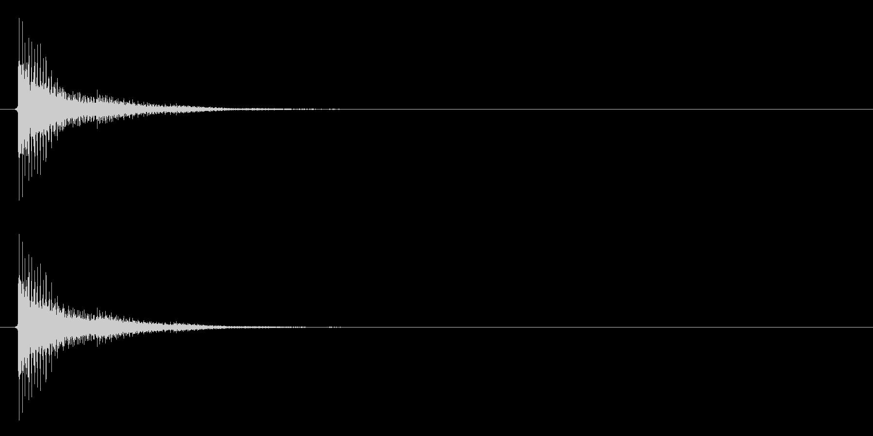 アプリ・ゲームの決定音_017の未再生の波形