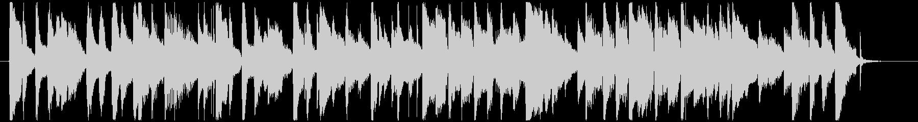 レトロなブルースBGMの未再生の波形