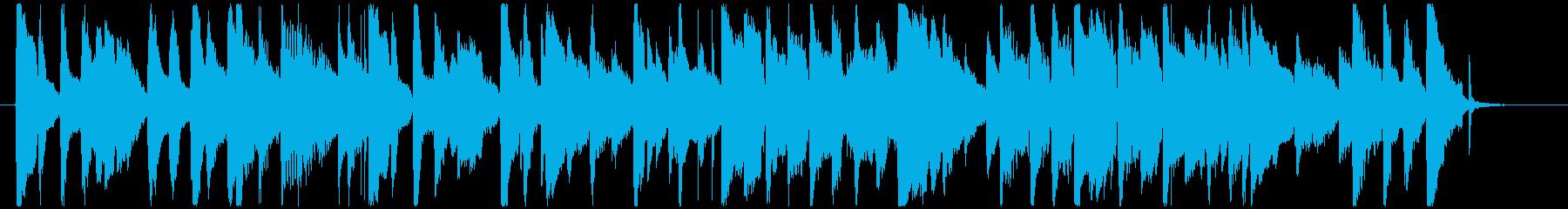 レトロなブルースBGMの再生済みの波形