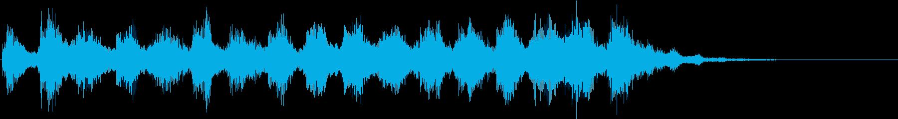 暗い雰囲気のするジングルの再生済みの波形