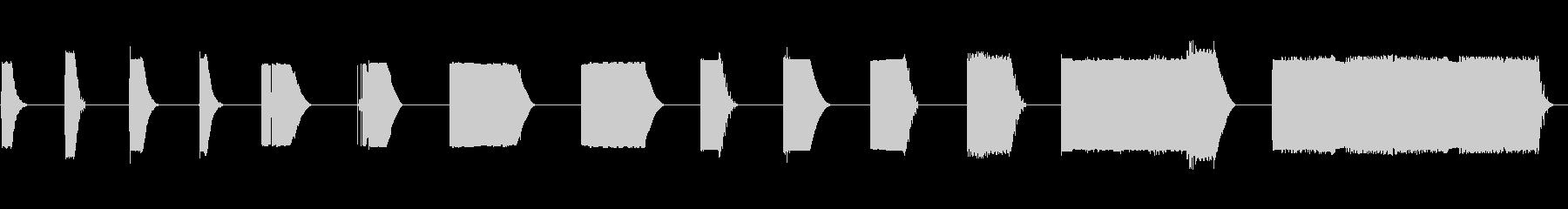 ボタン、シグナル、インパクト、SC...の未再生の波形