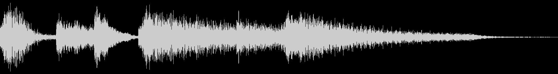 ピアノのプレーンなジングル 3秒の未再生の波形