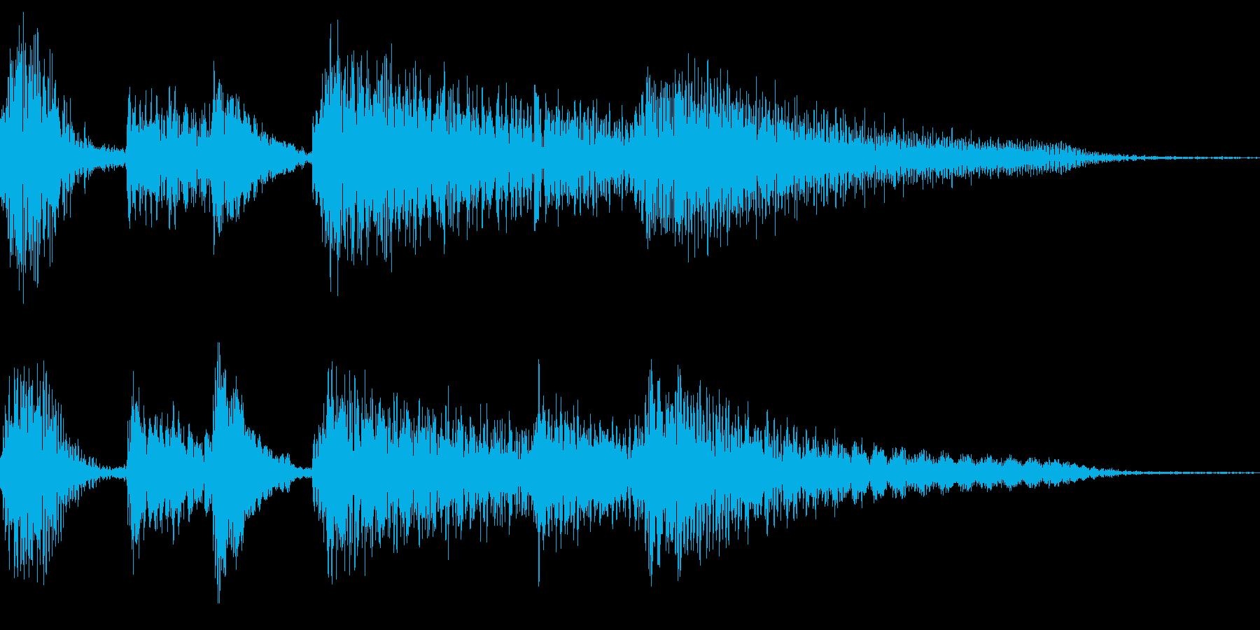 ピアノのプレーンなジングル 3秒の再生済みの波形
