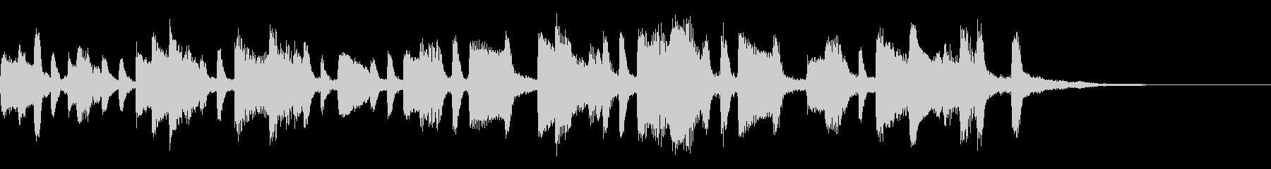 ひょうきんな和風ジングル35-ピアノソロの未再生の波形