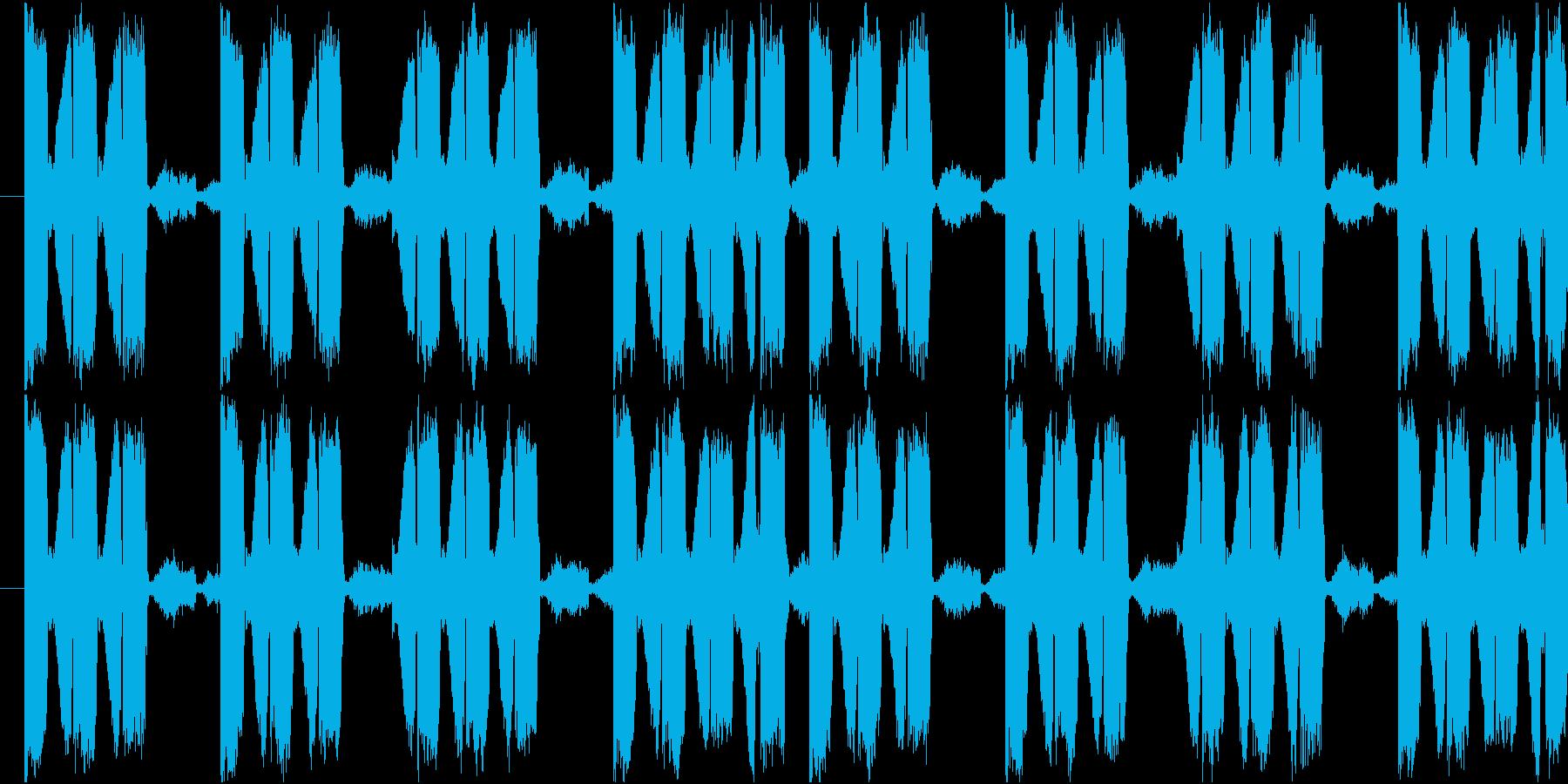 EDMで聞かれる単音フレーズの再生済みの波形