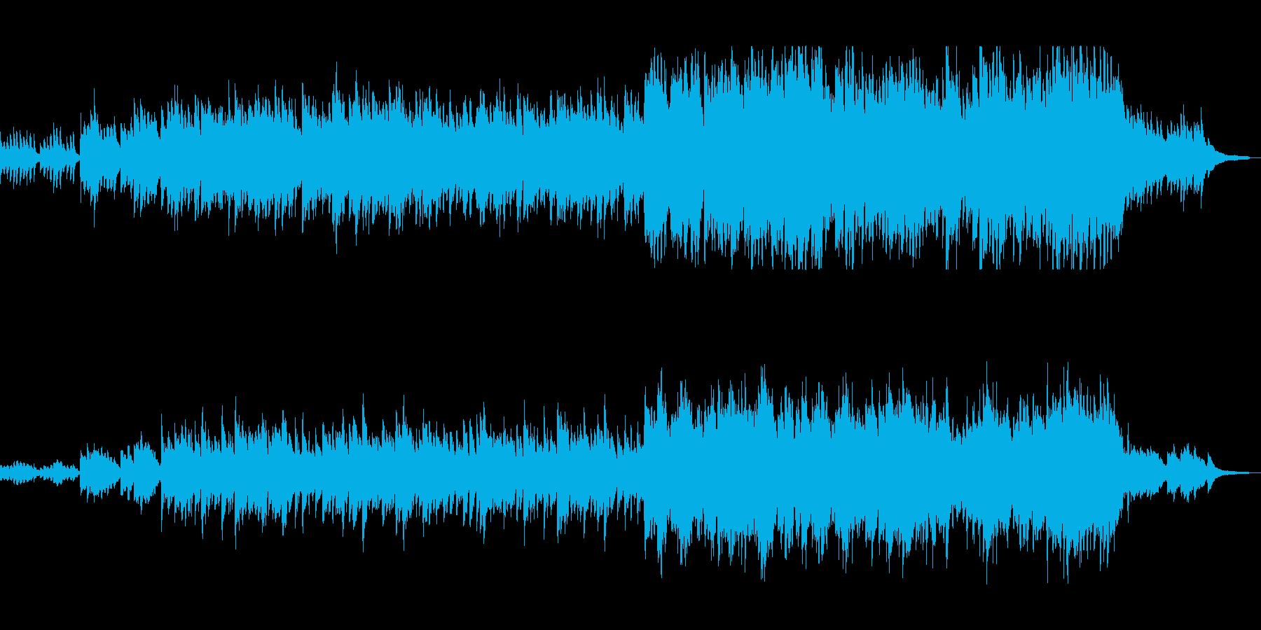 ピアノとオーケストラのサウンドトラックの再生済みの波形