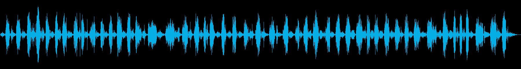 スイープバックとフォースクリーニングの再生済みの波形