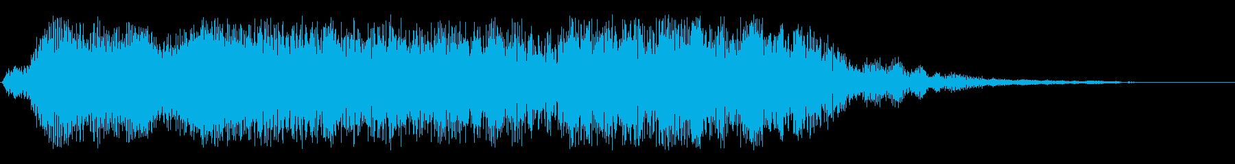 ニュース番組のオープニングの電子効果音の再生済みの波形