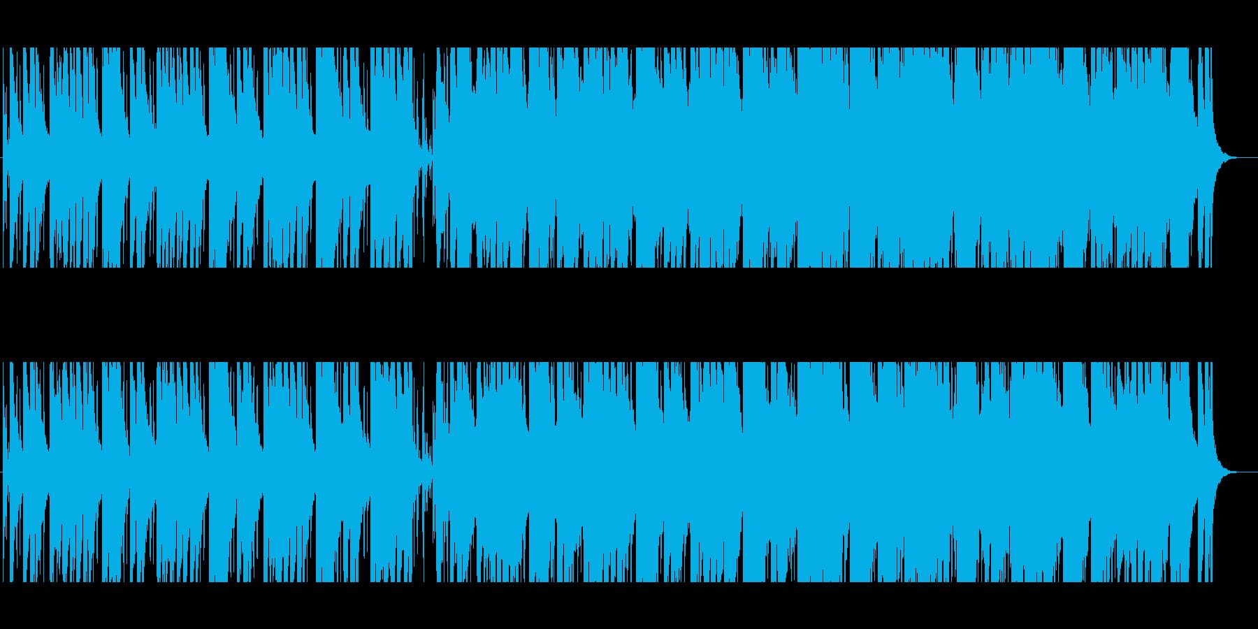 ピアノがメインでゆるい感じのBGMの再生済みの波形