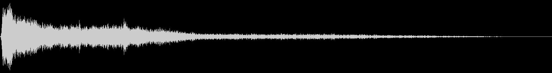 長いシューという鳴き声のザップ遷移の未再生の波形