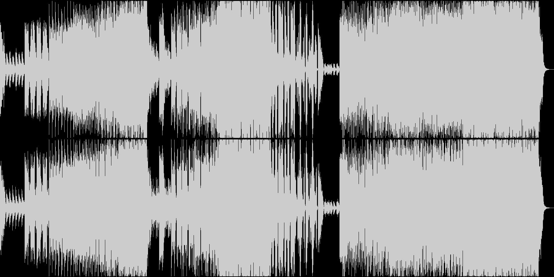 紅葉を連想させるピアノが美しいEDMの未再生の波形