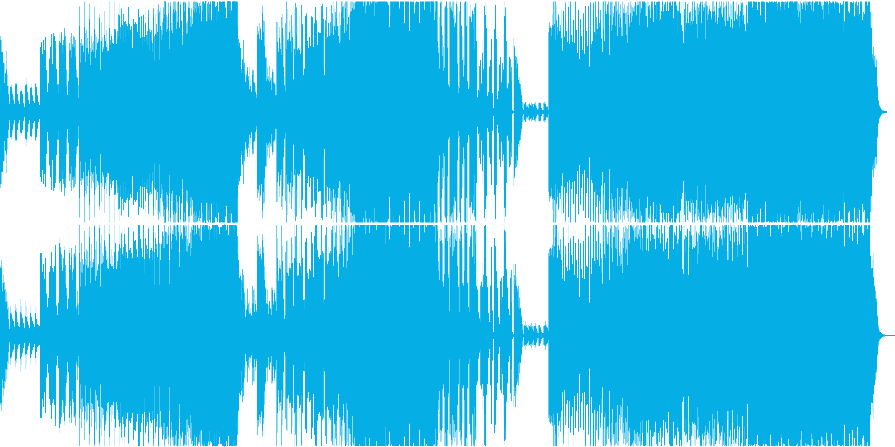 紅葉を連想させるピアノが美しいEDMの再生済みの波形