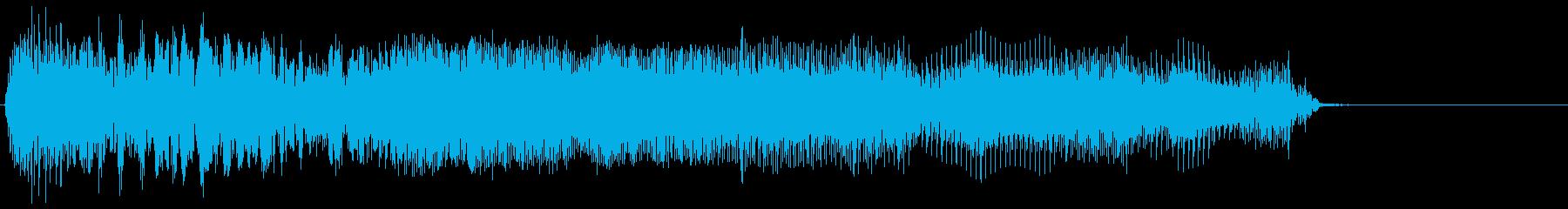 ゲーム掛け声男1叫び4の再生済みの波形