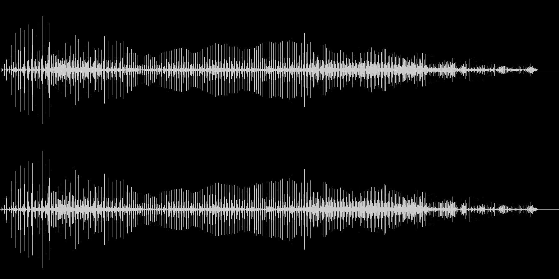 汚めなオナラの音の未再生の波形