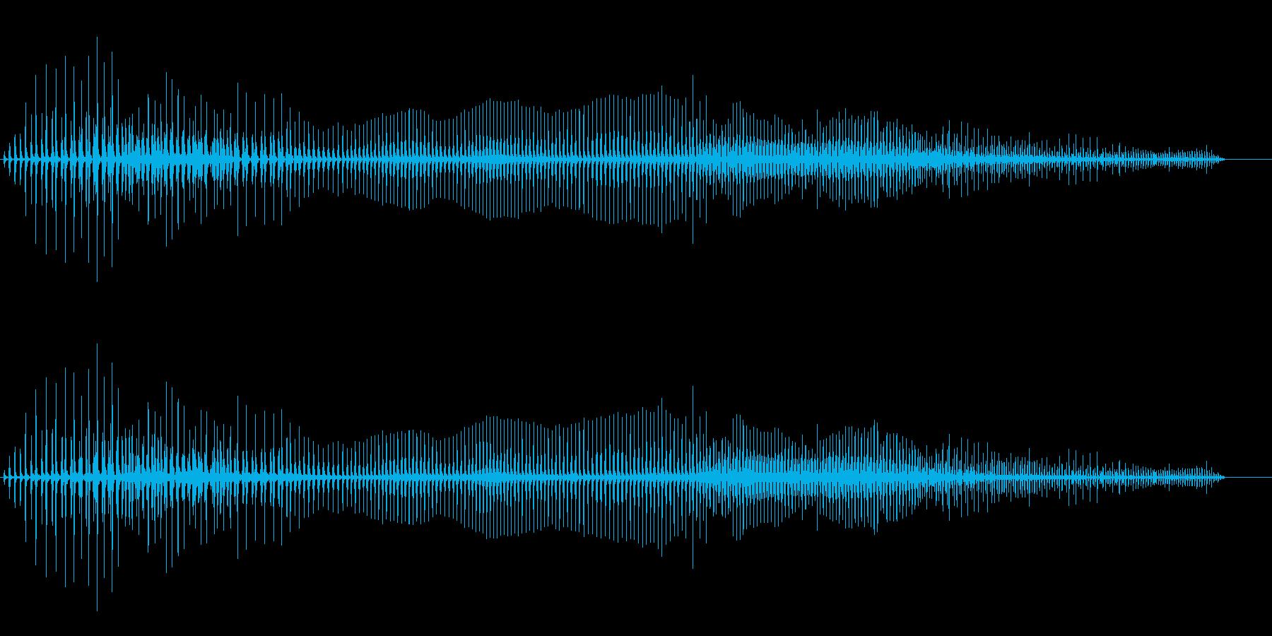 汚めなオナラの音の再生済みの波形