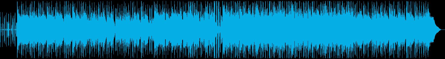 生アコースティックギターの切ないメロディの再生済みの波形