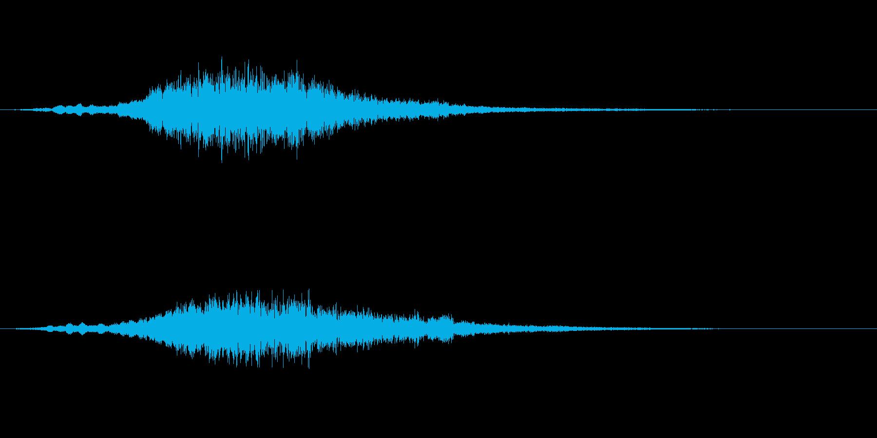 魔法の呪文、ワープの音の再生済みの波形