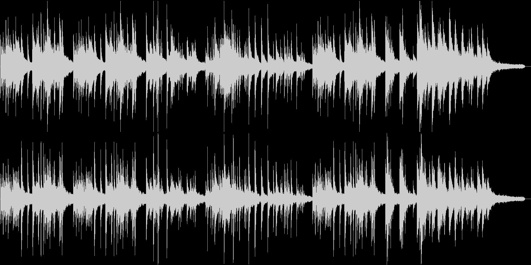 切ない、ピアノソロのバラードの未再生の波形
