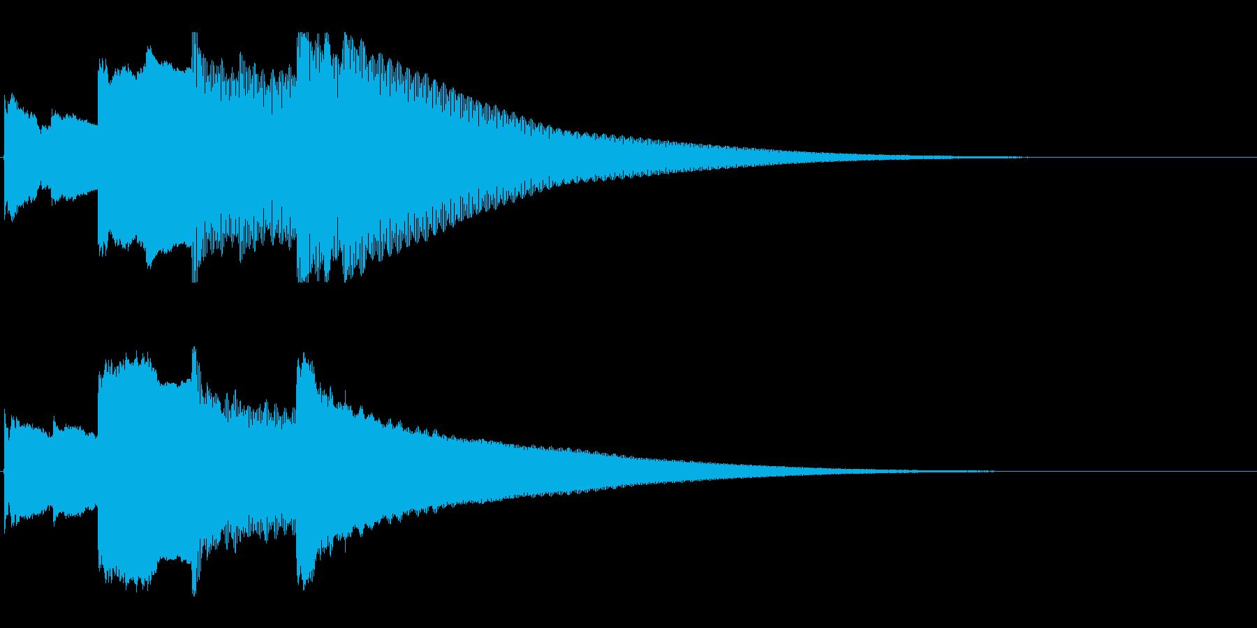 アナウンス後 チャイム-5_rev-2の再生済みの波形