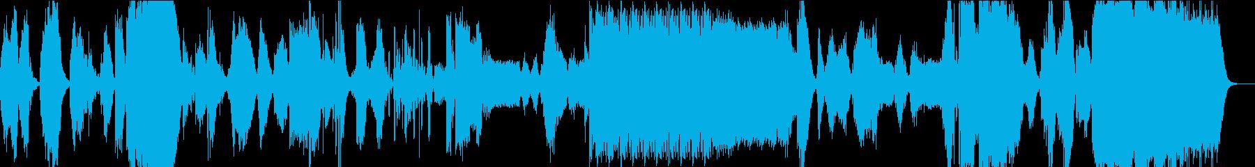 ホラー以外の用途が無いような不快なBGMの再生済みの波形