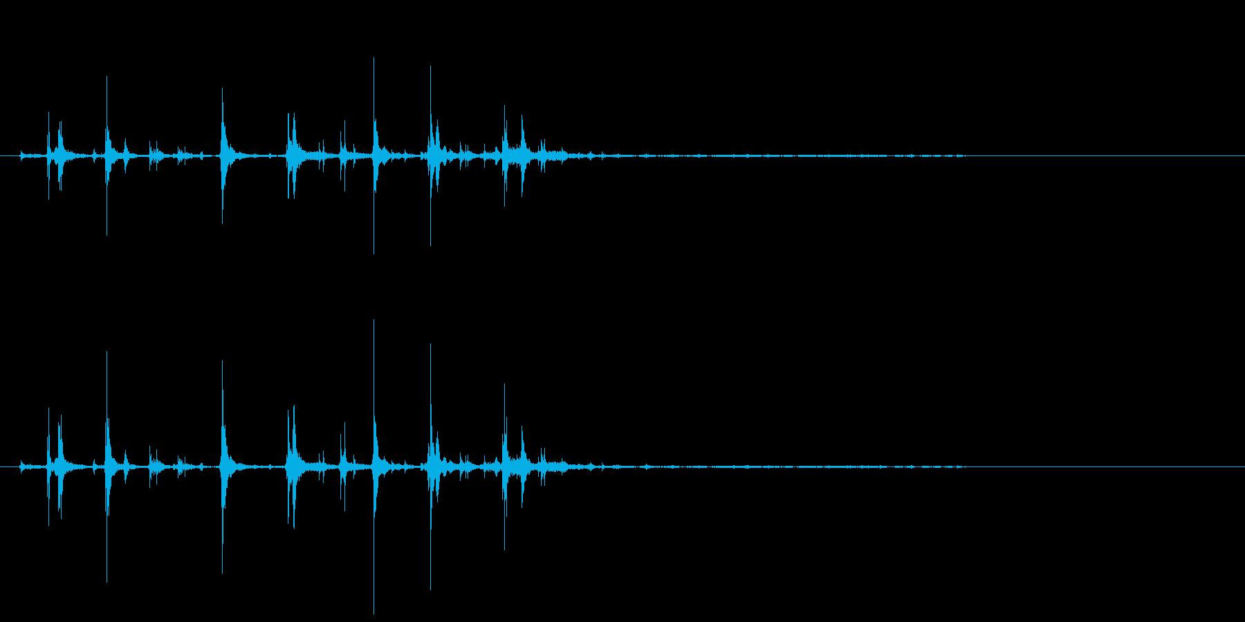 小銭を落として数える音の再生済みの波形