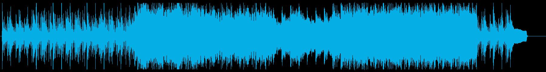 ポジティブなポップロックの再生済みの波形