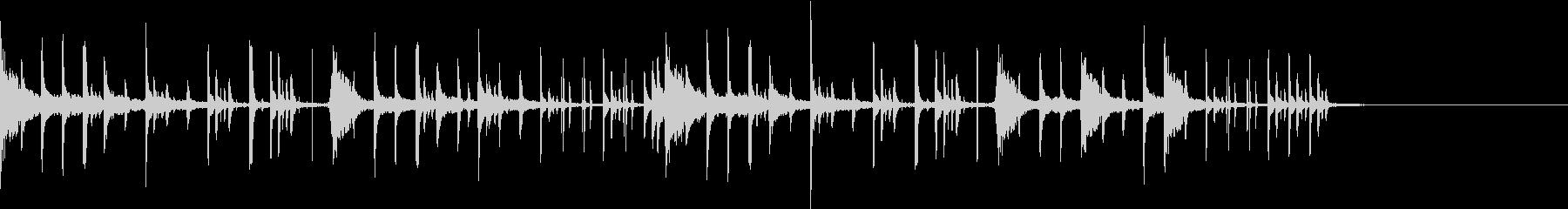 エレクトロニカなシンキングタイム音の未再生の波形