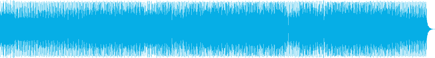 Cool techno music's reproduced waveform