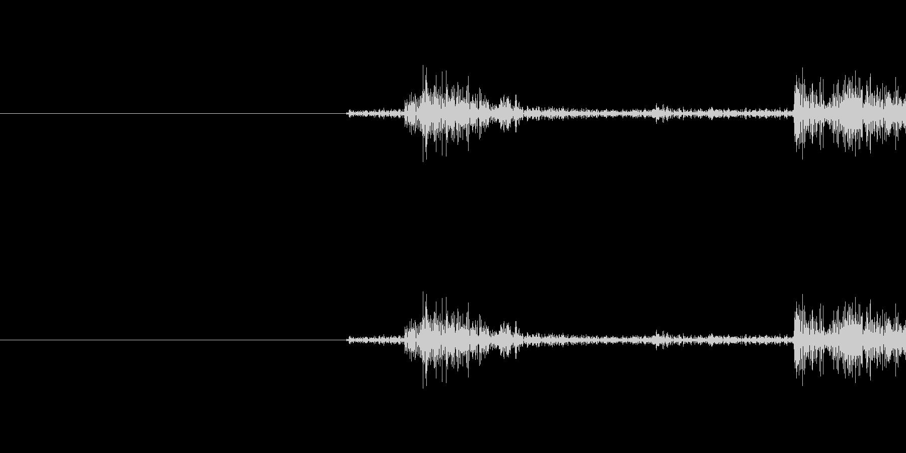 軽めシャッター音です(カシャ)の未再生の波形