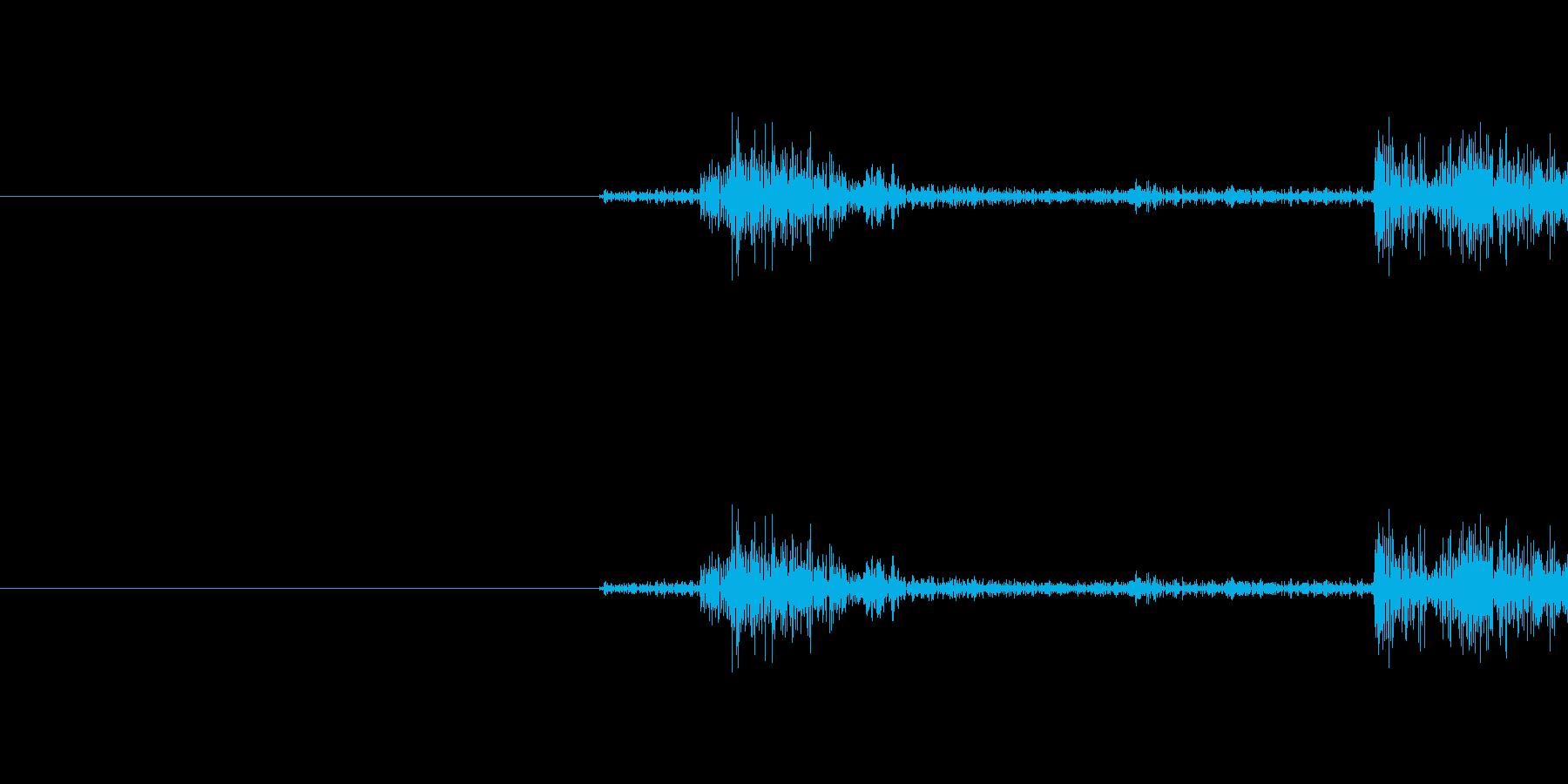 軽めシャッター音です(カシャ)の再生済みの波形
