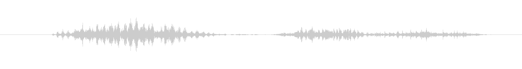 モンスター ハイヒット14の未再生の波形