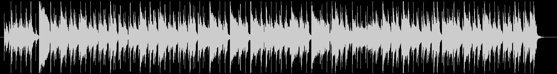 のんびりウキウキ、ラグタイムピアノの未再生の波形