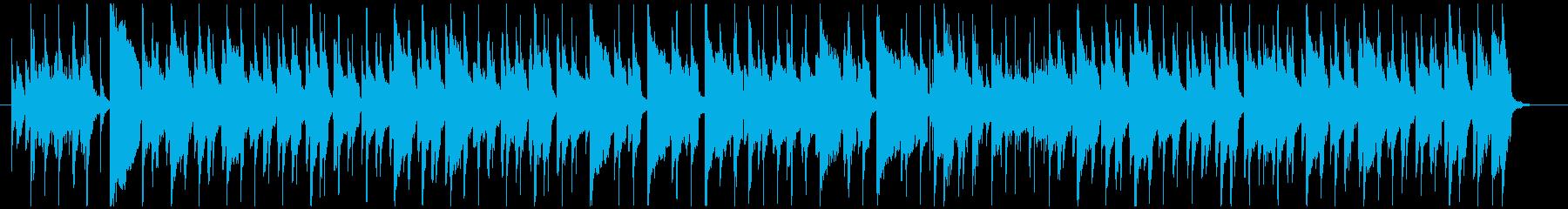 のんびりウキウキ、ラグタイムピアノの再生済みの波形