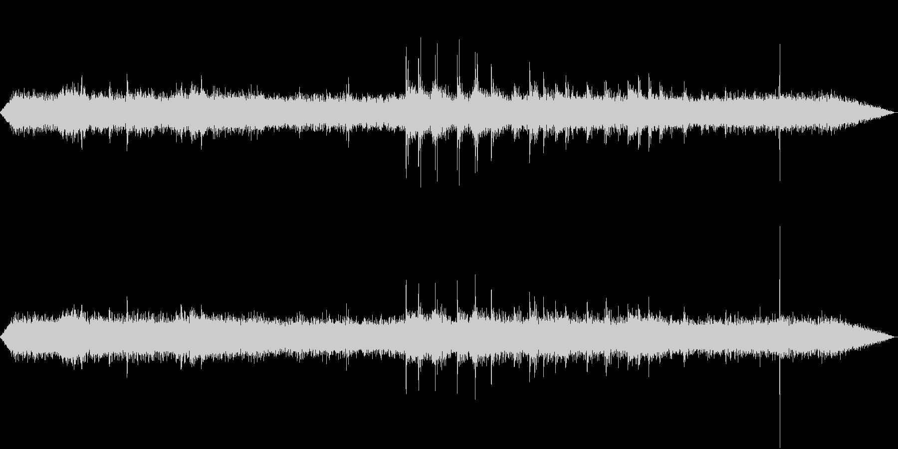 【生録音】工事現場の音 重機 1の未再生の波形