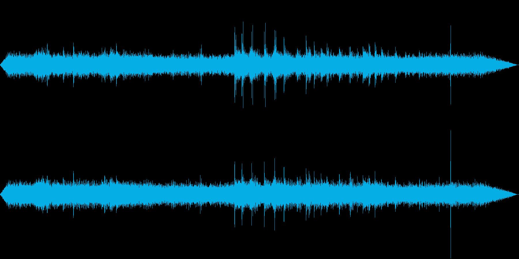 【生録音】工事現場の音 重機 1の再生済みの波形